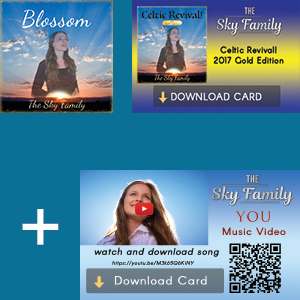 3 Celtic Revival! 2017 Gold Edition CDs - 3 Download Cards - 3 Download & Video Tract Cards for 'You'